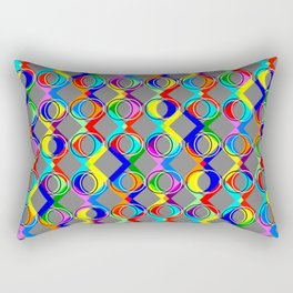 Rainbow Lattice and Circles Rectangular Pillow