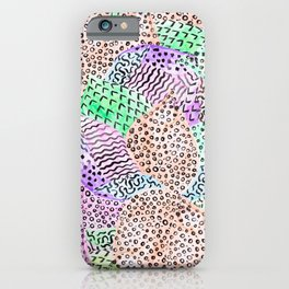 Modern abstract watercolor hand drawn pattern iPhone Case