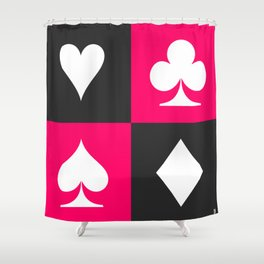 I love gambling. Playing card set. Shower Curtain