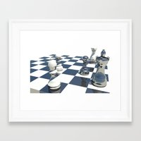 chess Framed Art Prints featuring Chess by Mike Hermes