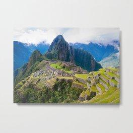 Breathtaking Machu Picchu Metal Print