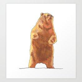 Cute Bear  Art Print