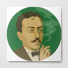 Queer Portrait - Tennessee Williams Metal Print