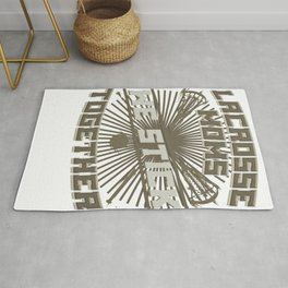 Lacrosse Game Lacrosse Moms We Stick Together Lacrosse Players Rug