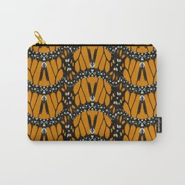 Monarch Butterfly Wings Abstract Patterned Print Carry-All Pouch