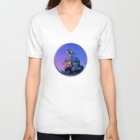 wall e V-neck T-shirts featuring WALL-E (Painting Style) by ElvisTR