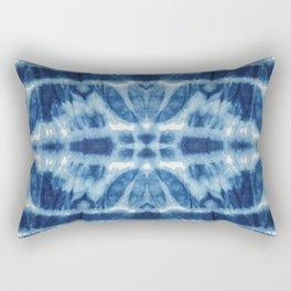 Tie Dye Blues Twos Rectangular Pillow