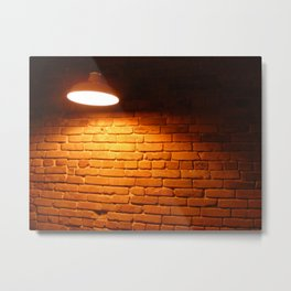Illuminated brick Metal Print