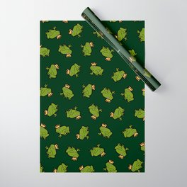 Frog Prince Pattern Wrapping Paper