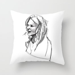Light Swan Throw Pillow