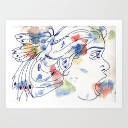 With Wings Art Print