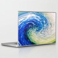 van gogh Laptop & iPad Skins featuring Wave to Van Gogh by David Lee