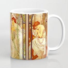 """Alphonse Mucha """"Times of day"""" Coffee Mug"""