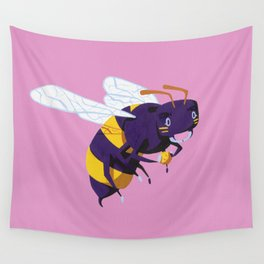 Buzz, Buzz Bee - Pink Wall Tapestry