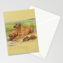Rhodesian Ridgeback dogs painting & Quote of Karen Blixen Stationery Cards