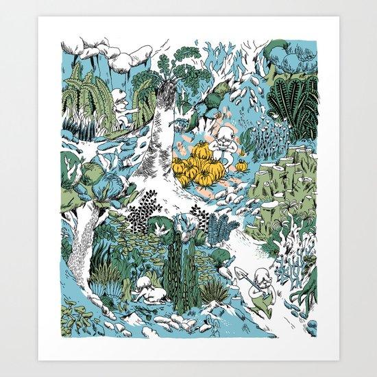 Kitchen Garden Art Print