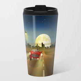 Woman on the road Travel Mug