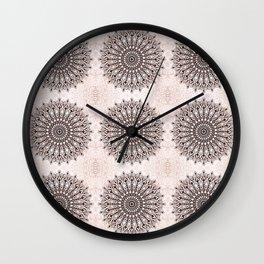 Zen brown mandala pattern Wall Clock
