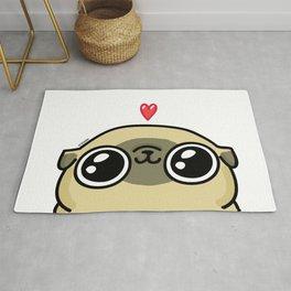 Mochi the pug loves you Rug