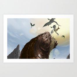 Worm Hunters Art Print