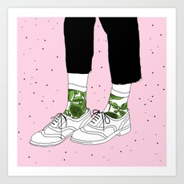 Starry Shoes Art Print