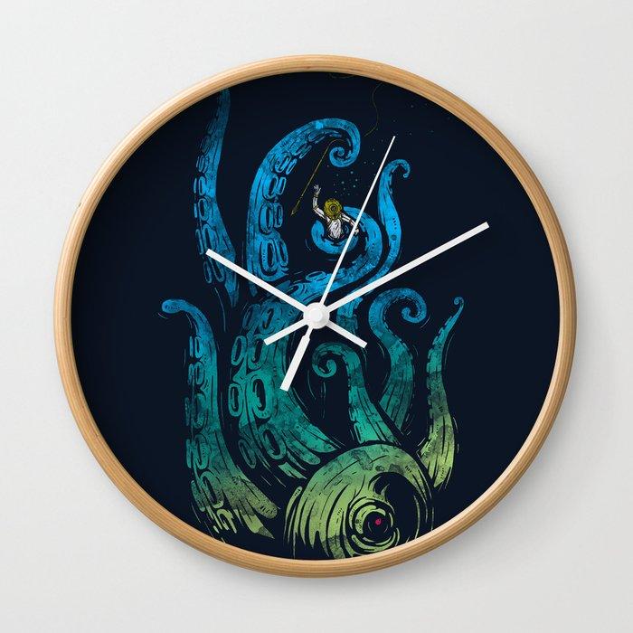 Undersea attack (neon ver.) Wall Clock