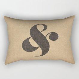 Elephant Italic Ampersand Rectangular Pillow