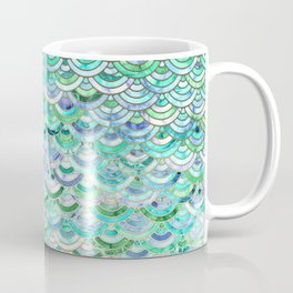 Marble Mosaic in Mint Quartz and Jade Coffee Mug