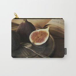 An old books and fresh figs Carry-All Pouch
