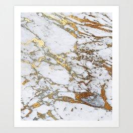 Gold Marble Art Print