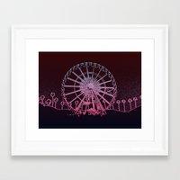 coachella Framed Art Prints featuring Coachella by Adrienne