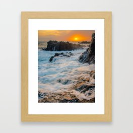 Kaena Point Hawaii Sunset Framed Art Print