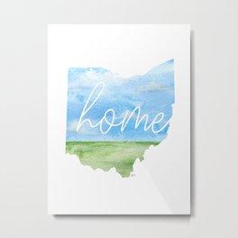 Ohio Home State Metal Print