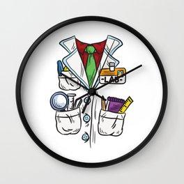 Science Lab Coat Wall Clock