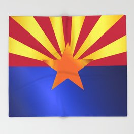 Arizona State Flag Gloss Throw Blanket