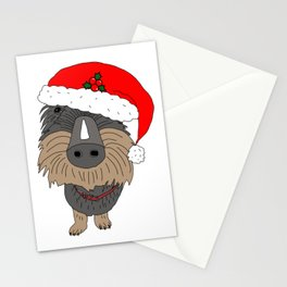 Hugo the Santa dog Stationery Cards