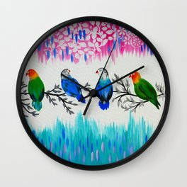 Nature's Jewels Wall Clock