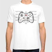 Controller Map White MEDIUM Mens Fitted Tee