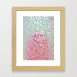 Sparkle Twirl Shine Repeat - White / Pink Sparkle Framed Art Print