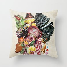 Black Beauty Throw Pillow
