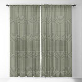 Art Deco Arch Pattern VIII Sheer Curtain