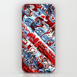 Red White And Blue Abstract iPhone Skin