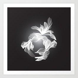 Petal Mesh I Art Print