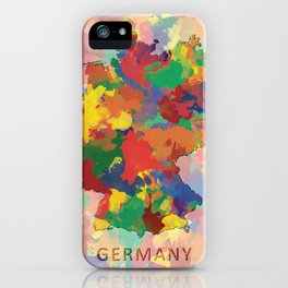 Germany, Outline, Map iPhone Case