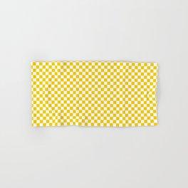 Small Checker Print - Yellow and White Hand & Bath Towel