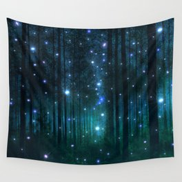 Glowing Space Woods Wall Tapestry