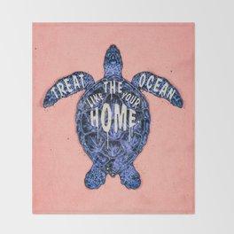 ocean omega (variant 3) Throw Blanket