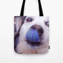 Dazzling Dazed Dog Tote Bag