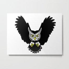 Flying Owl Metal Print