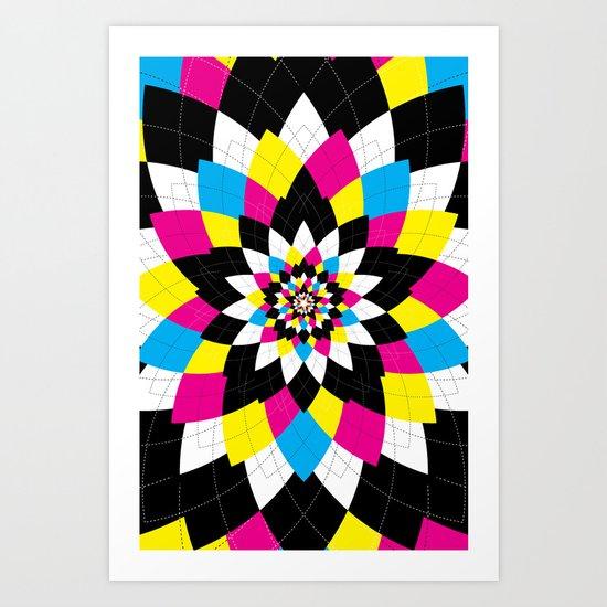 CMYK Argyle Art Print